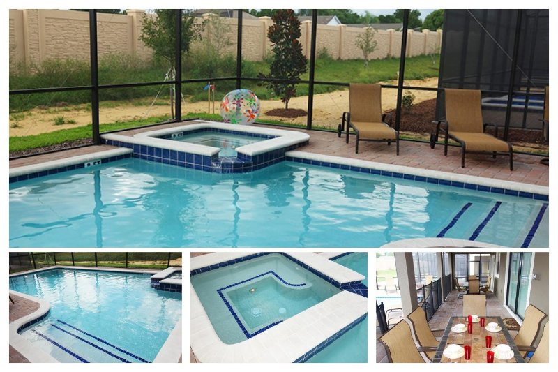 Amazing 8 bedroom Championsgate home- Movie theatre- Games room- South facing pool & Spa - Image 1 - Four Corners - rentals