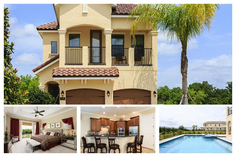 Beautiful brand new 5 bedroom Reunion Resort home with private swimming pool, spa and games room - Image 1 - Reunion - rentals