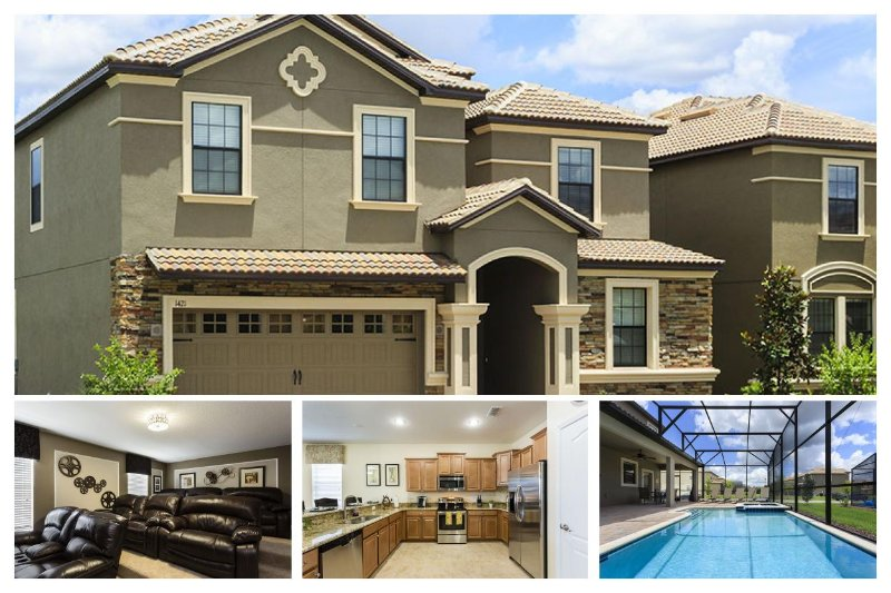 Breath-taking 8 bedroom villa- BRAND NEW- Close to Disney- Perfect family home- Private pool- Games room - Image 1 - Loughman - rentals