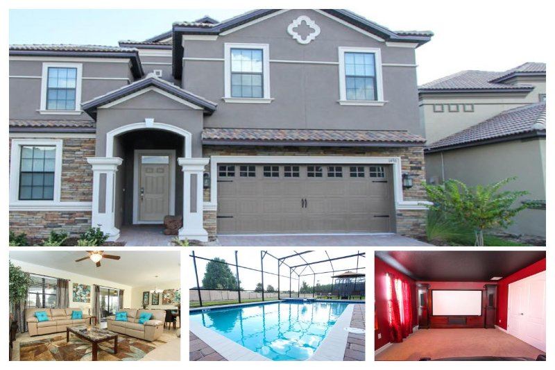 Stunning  8 bedroom, 5 bathroom home with movie theatre, games room, large pool and spa! - Image 1 - Loughman - rentals
