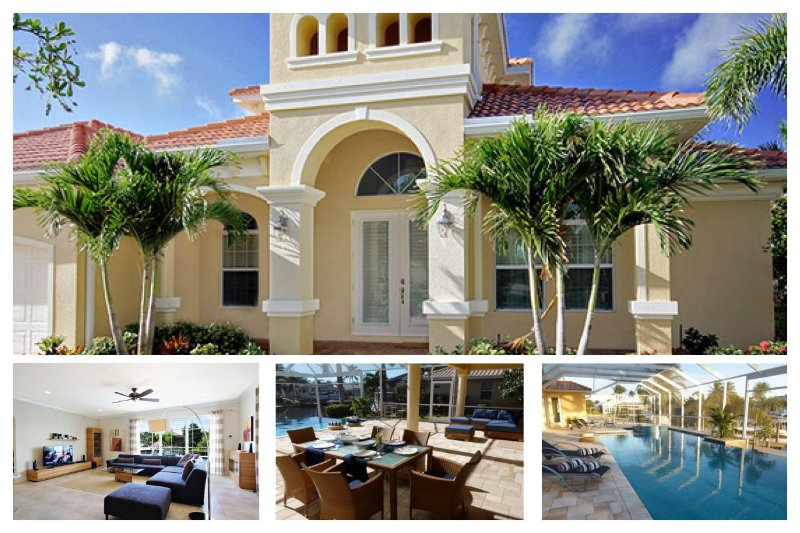 4 bedroom gorgeous vacation rental- Private pool & spa- Sail boat & Ocean access- Beautiful views - Image 1 - Cape Coral - rentals