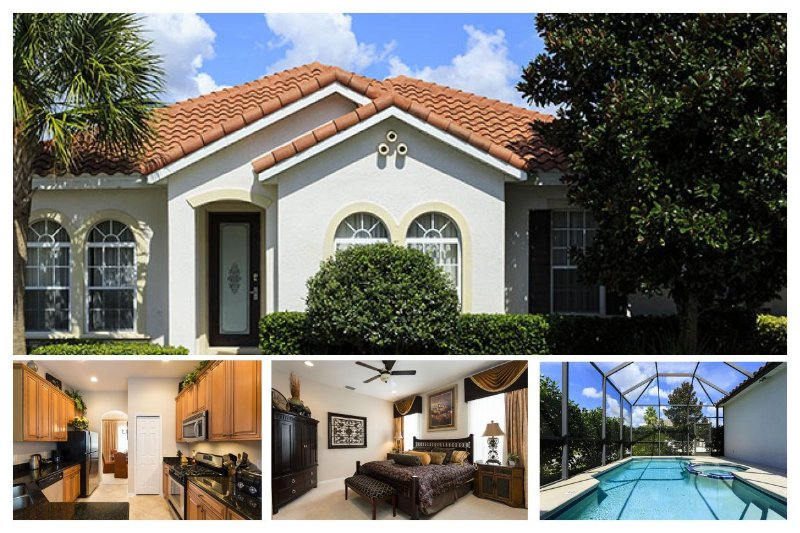 Perfect 3 bed home with screened pool and spa - just 5.5 miles from Disney - Image 1 - Reunion - rentals