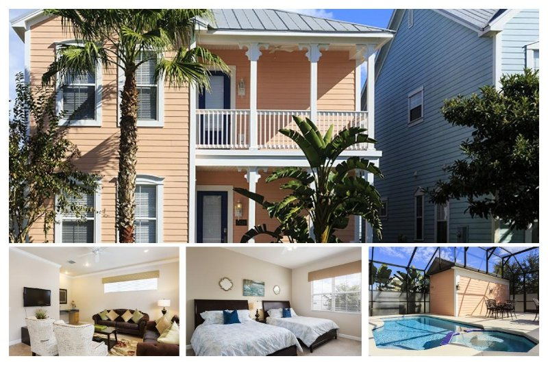 A lovely 4 bed home in Reunion Resort, private screened pool and spa - Image 1 - Orlando - rentals