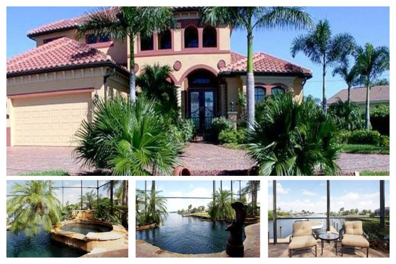 Brand new 3 bedroom 3 bathroom Cape Coral villa with a beautiful pool with wonderful views and easy access to the Golf - Image 1 - Saint James City - rentals