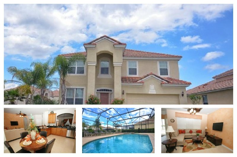 Luxury 6 Bed Villa with Pool - 2 Miles From Disney - Image 1 - Four Corners - rentals