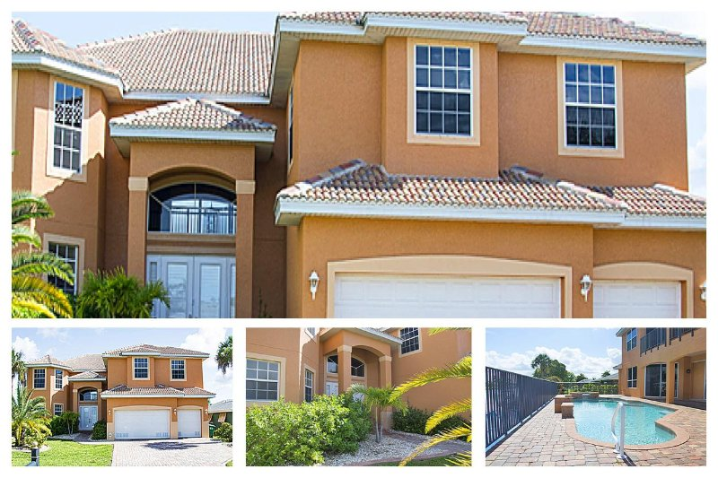 Fabulously spacious-Contemporary 6 bedroom villa-Private pool-Waterfront views-Sailboat access - Image 1 - Cape Coral - rentals