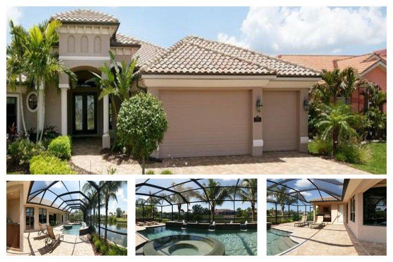 Beautiful luxury villa overlooks waterway-Boats dock-4 bedrooms-Pet friendly- Water features pool - Image 1 - Matlacha - rentals