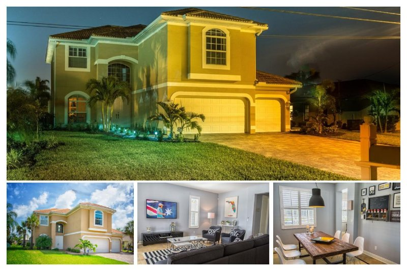 Luxury 4 Bed Waterfront Home with Private Pool - Image 1 - Cape Coral - rentals