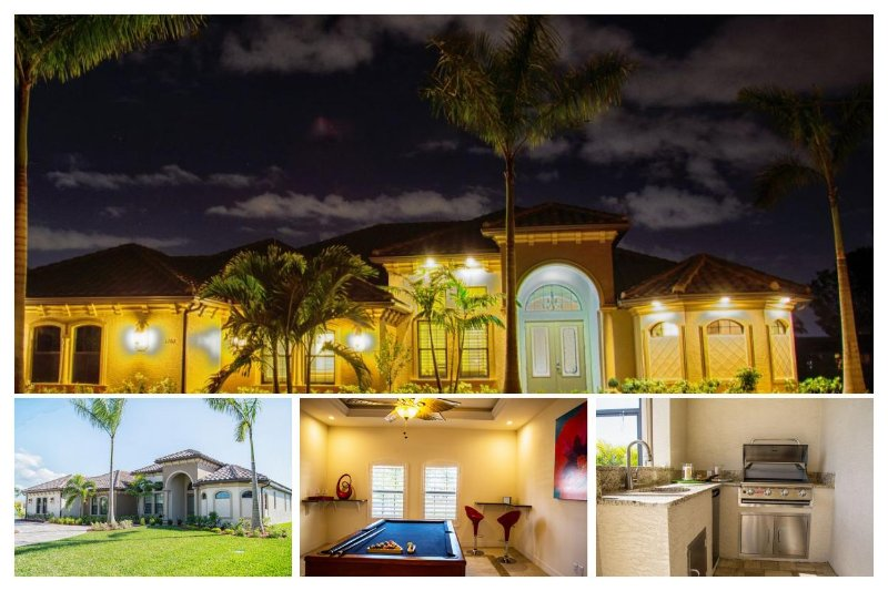 Modern 4 Bed Waterfront Villa with Private Pool - Image 1 - Cape Coral - rentals