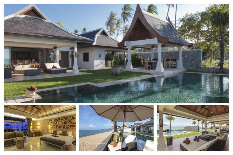Maenam 7042 - Luxury Beachfront With Chef Service - Image 1 - Mae Nam - rentals