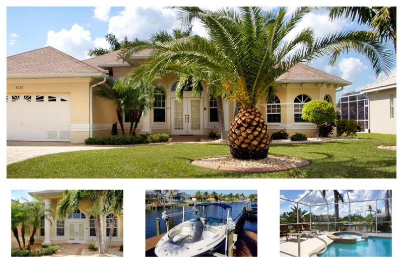 Luxury waterfront 4 bedroom vacation home- Pool & Jacuzzi- Pet friendly- Beautiful family home - Image 1 - Matlacha - rentals