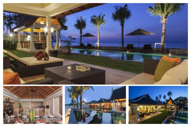 Maenam 5042 - Luxury Beachfront With Chef Service - Image 1 - Mae Nam - rentals