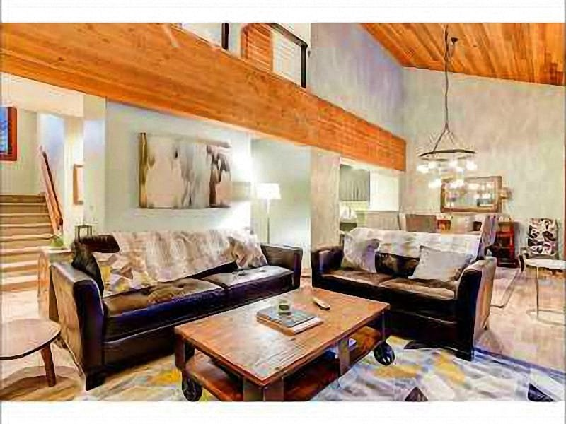 Spacious Living Room has Modern Decor with a Western Flare - Located in Snow Park - Charming Decor (24595) - Park City - rentals