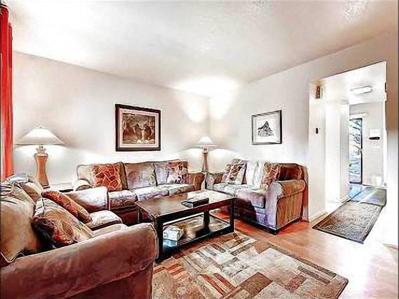 The Cozy and Welcoming Living Area - Private Hot Tub - Private Patio off Master Bedroom (24674) - Park City - rentals