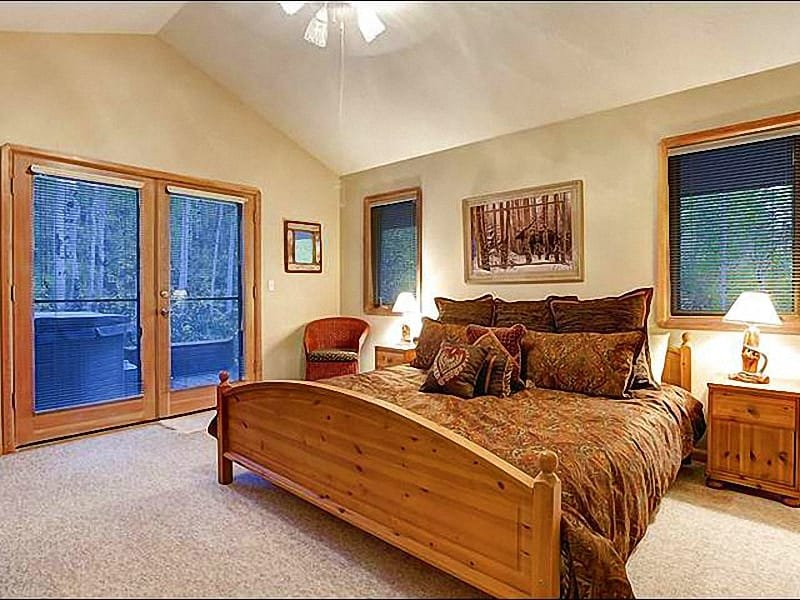 Master Bedroom Features a King Bed and Opens to the Patio - Beautiful Finishes Throughout - Corner Unit (24698) - Park City - rentals