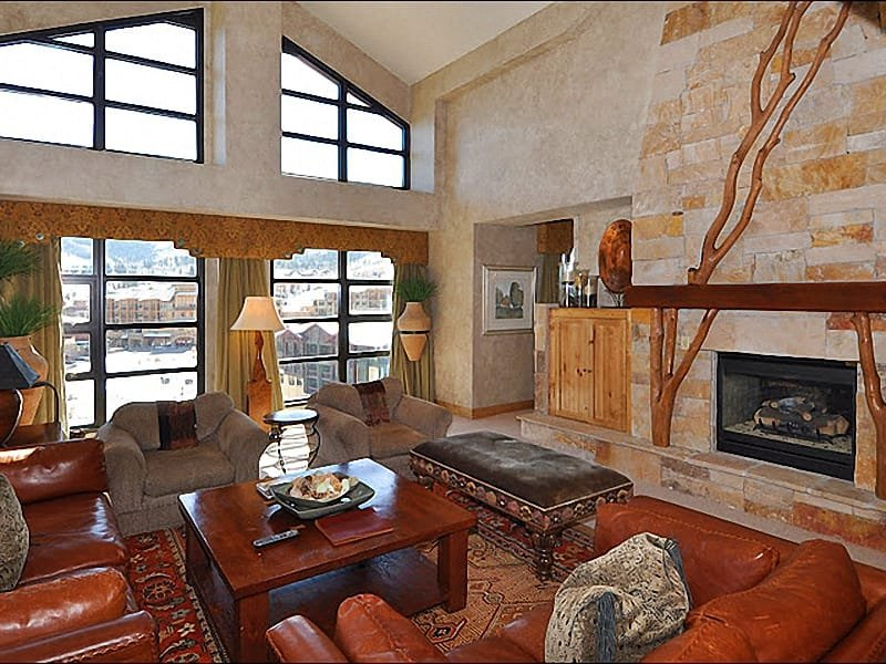 Stunning, Spacious Living Room - Representative Unit - Stunning Penthouse Unit - Slope and Mountain Views (24733) - Park City - rentals