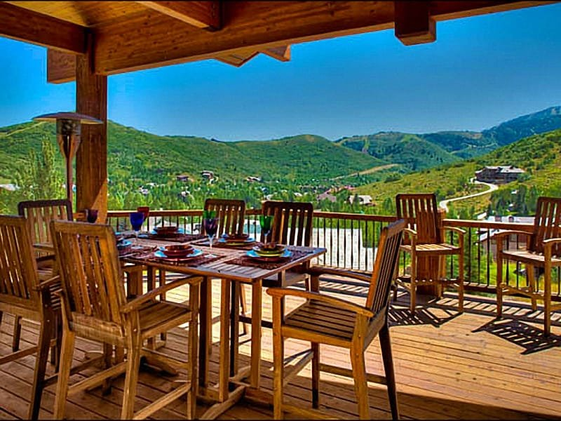 The Abode at Solamere Offers Beautiful Views of Mountain Peaks - Stunning Mountain Views - Rustic Mountain Elegance (24784) - Park City - rentals