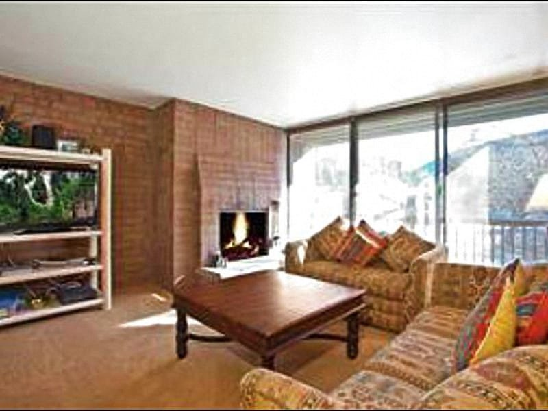 Living Room Boasts a Flat-Screen TV and Wood-Burning Fireplace - Affordable, Quality Accommodations - On the Free Shuttle Route (25016) - Park City - rentals