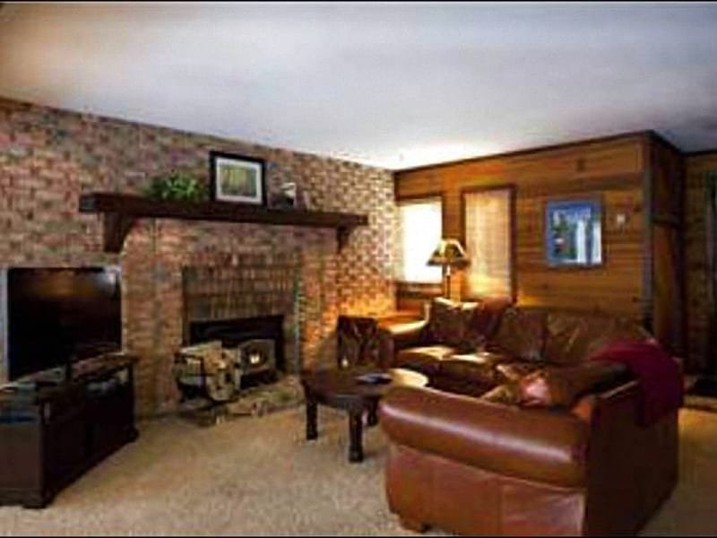 Living Room Includes a Flat-Screen TV and Fireplace - Updated Condo with Forest Views - Wonderful, Quiet Location (25018) - Park City - rentals