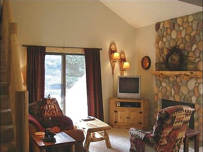 Living Room with Natural Stone Fireplace - Short Walk to the Cabriolet Lift - Beautiful Views of Mountains and Pastures (25127) - Park City - rentals