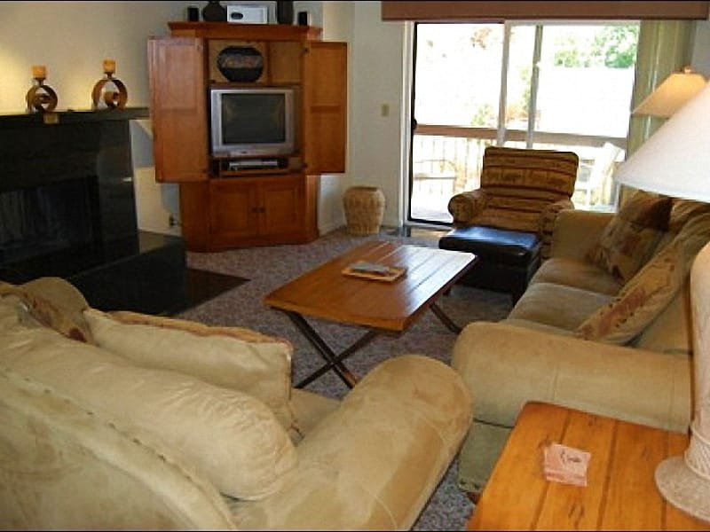 Living Room has a TV with DVD Player and Deck Access - Walk to Historic Main Street & Town Lift - Park City Mountain Views from Deck (25158) - Park City - rentals