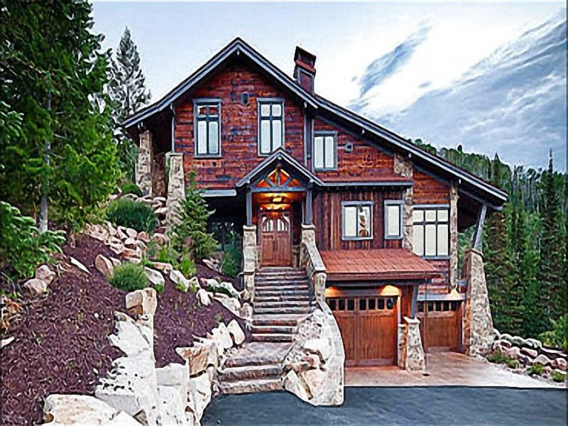 Stunning Home Exterior - In a Private Gated Community - Exclusive Slopeside Property (25174) - Park City - rentals