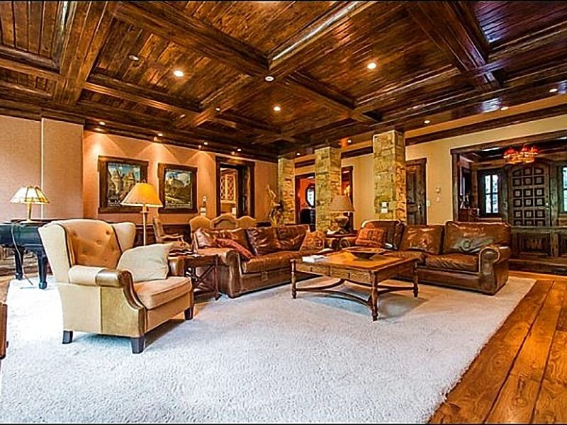 Exquisite Living Room has Custom Furnishings - Beautiful Mountain Views - Luxury Furnishings & Upscale Finishes (25218) - Park City - rentals