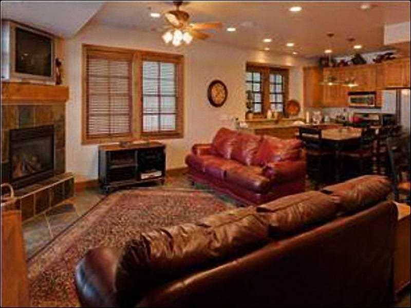 Leather Furnishings and a Fireplace in the Living Room - Convenient Location on Park Avenue - Open & Spacious Layout (25233) - Park City - rentals