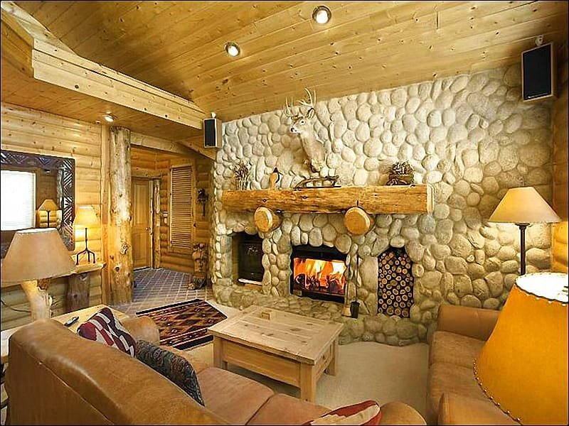 River Rock Fireplace in the Living Room - Beautiful Top Floor Condo - Two Master Suites (25290) - Park City - rentals