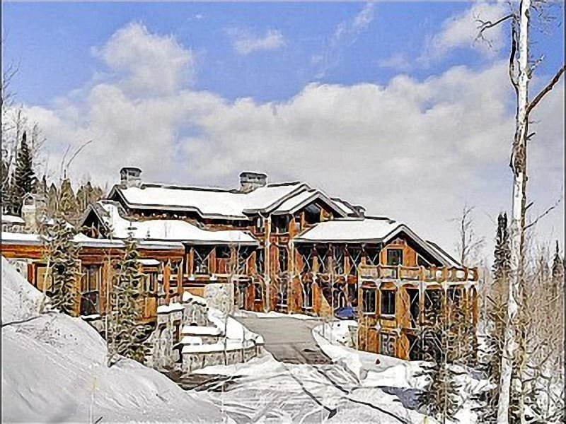 Exterior View - Gated Community Home located Directly on the Slopes - Home Theater (25307) - Park City - rentals