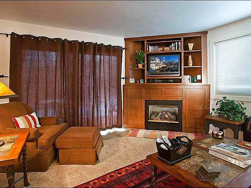 Gas Fireplace in the Living Room - Well-Appointed Vacation Condo - A Short Walk from the Base Village (25322) - Park City - rentals