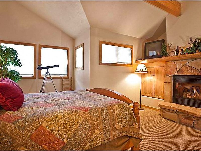 Luxurious Master Bedroom Includes a King Bed, Gas Fireplace, and Private Bath - Comfortable & Inviting Condo - A Half Mile from Main Street (25340) - Park City - rentals