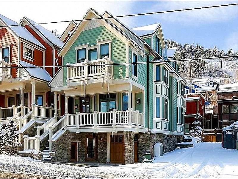 Exterior View - Walk to Dining and Shopping - Private Hot Tub (25445) - Park City - rentals