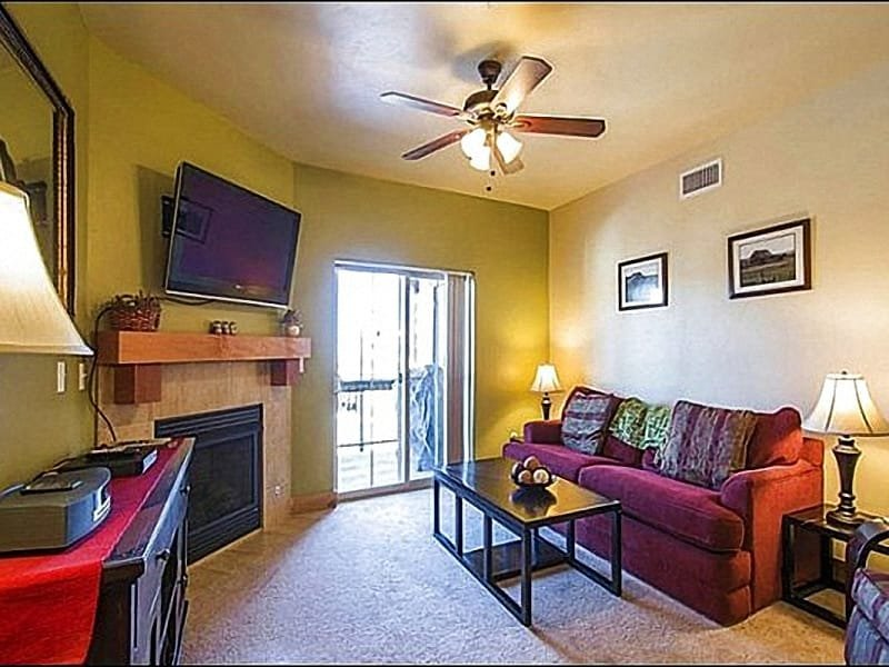 Living Room Features a Flat Screen TV and Gas Fireplace - Close to Olympic Park - Walk to Redstone Village (25463) - Park City - rentals