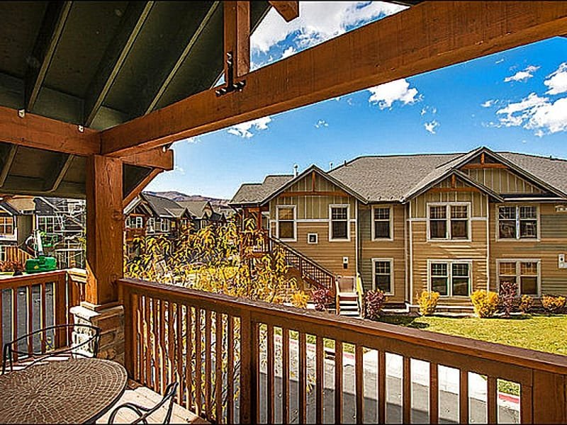 View from Private Deck - Free Shuttle Ride to Three Ski Resorts - Walk to Shopping, Dining and Nightlife (25473) - Park City - rentals