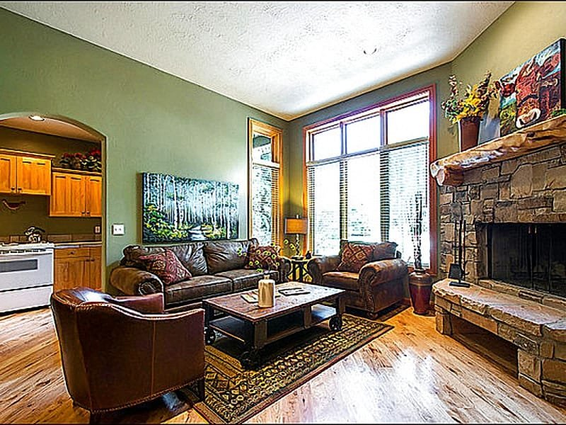 Living Room Boasts a Wood Burning Fireplace - Just Over a Mile from Park City's Main Street - Next to Wooded Walking Trails (25477) - Park City - rentals