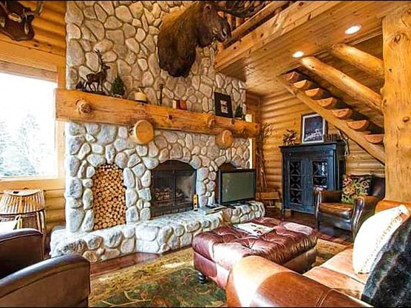 Living Room Features a Lovely Stone Fireplace - Close to Main Street District - On Free Shuttle Route (7986) - Park City - rentals
