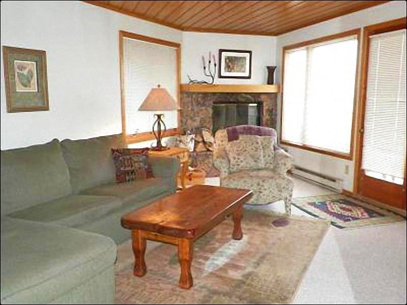 Living Room Features Plenty of Seating and a Fireplace - Newly Upgraded Condo - Magnificent Views (1373) - Crested Butte - rentals