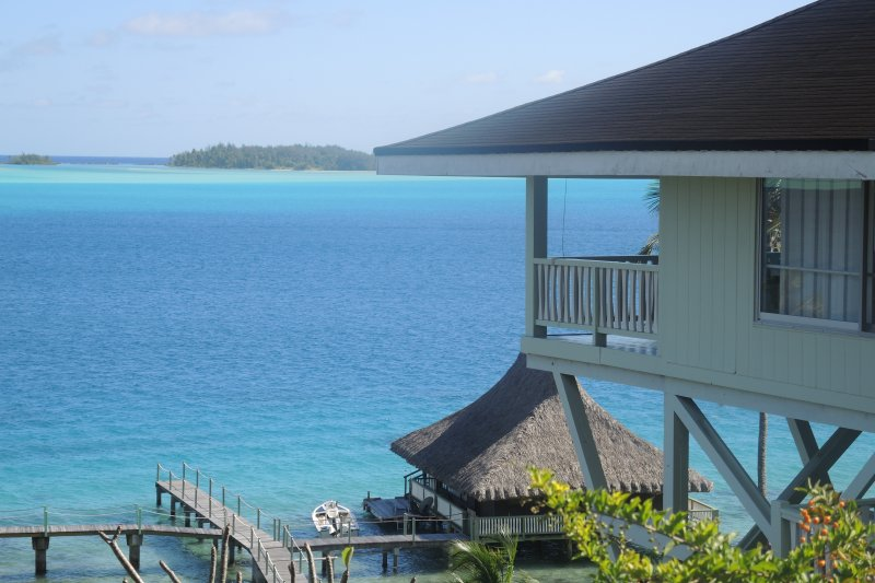 Gorgeous lagoon view from the house - GORGEOUS LAGOONFRONT VILLA IN BORA BORA - Bora Bora - rentals
