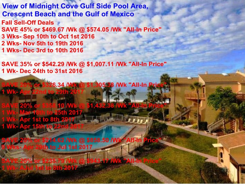 Sun, Sand & *Save 20% to 35%* Midnight Cove #714 - Image 1 - Sarasota - rentals