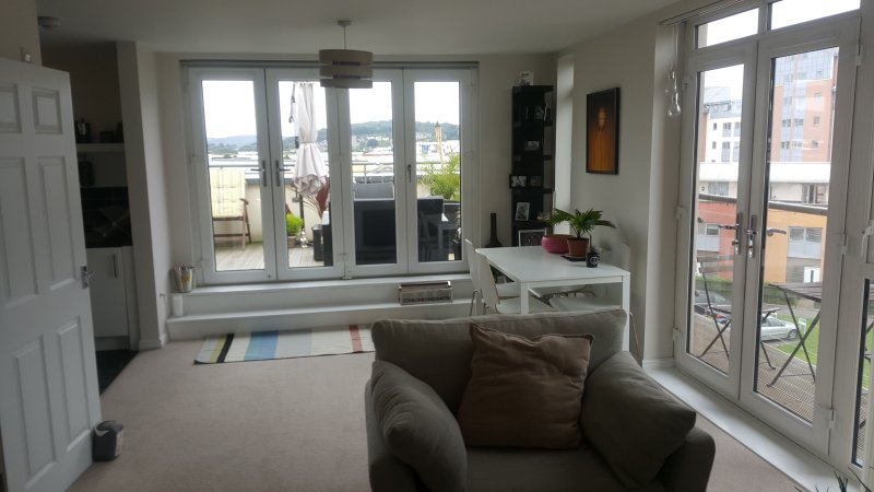 Living/Dining Room - Modern Penthouse Marina Apartment - Weston-in-Gordano, - rentals