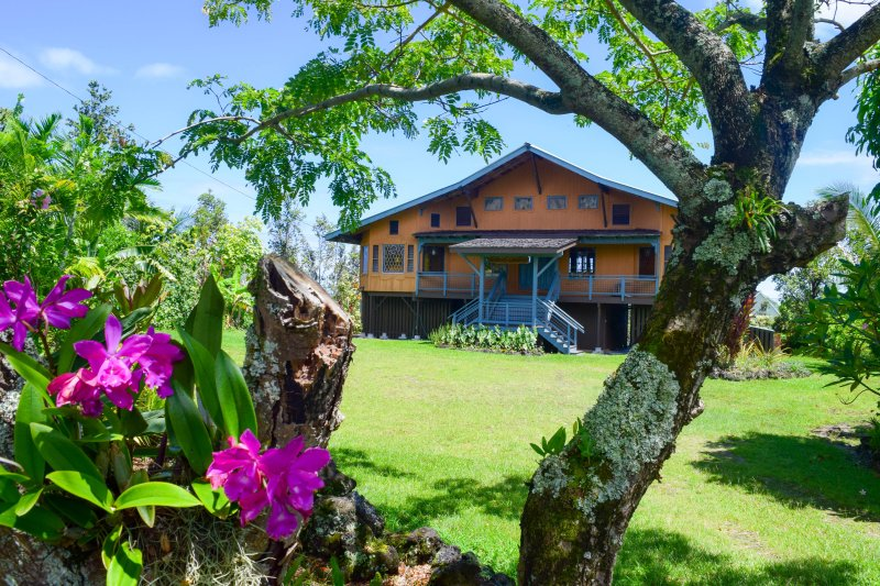 Hale O Kamakani (House of Upward Breezes) in the quiet Puna Beach Palisades neighborhood - Hale O Kamakani - Pahoa - rentals