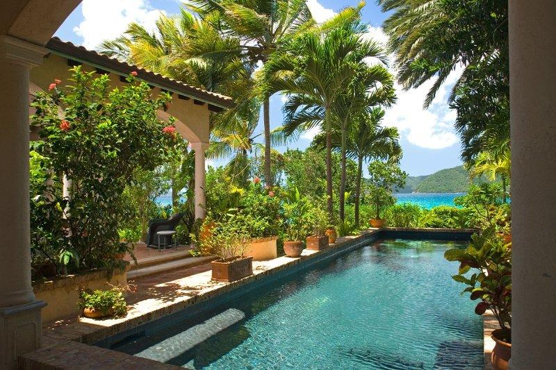 Luxury 4 bedroom St. John villa. Located on Peter Bay Beach! - Image 1 - Peter Bay - rentals