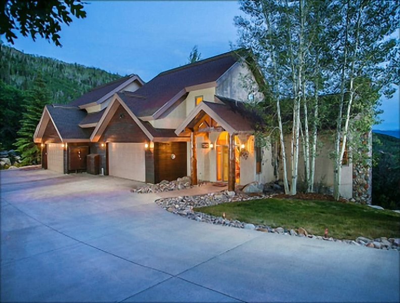 Exterior View of this Large Duplex Home - 1 Night Free for Week-long Rentals in Summer - Luxurious Amenities, Private Shuttle in Winter (10009) - Steamboat Springs - rentals