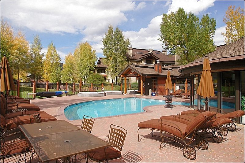 Heated Pool, Multiple Hot Tubs, & Luxurious Outdoor Furniture. - Winter Private Shuttle, Indoor & Outdoor Pools - 11 Hot Tubs, 2 Tennis Courts, Outdoor Fireplace (5868) - Steamboat Springs - rentals