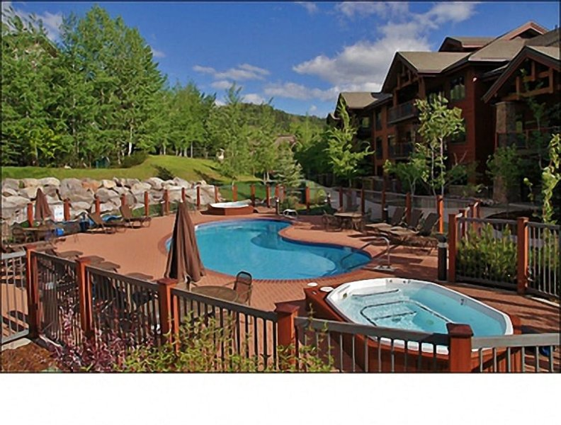 This is just the closest of the 4 Pool & Hot Tub areas! - Private Shuttle Service in Ski Season, City Shuttle Year Round - 4 Indoor & Outdoor Heated Pools, 11 Hot Tubs (11183) - Steamboat Springs - rentals