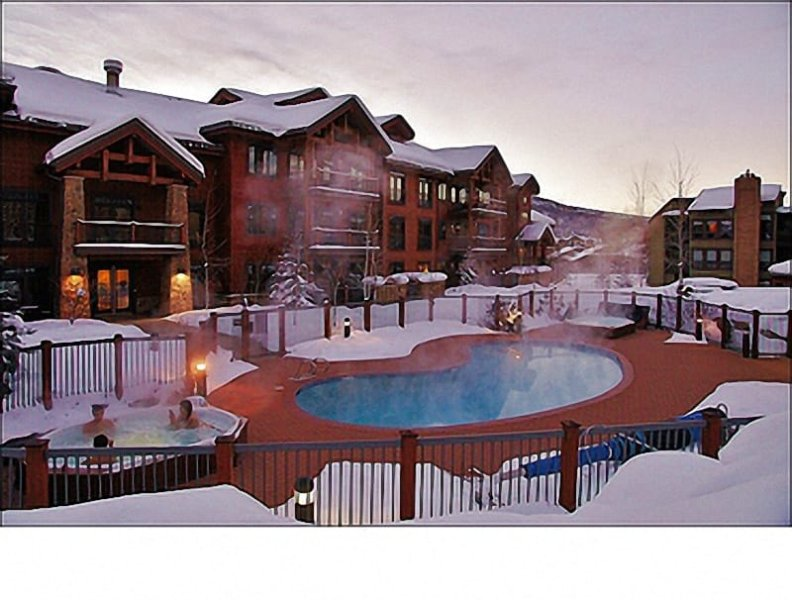 This is just the closest of the 4 different Pool & Hot Tub areas - Private Shuttle Service in Ski Season, City Shuttle Year Round - 4 Indoor & Outdoor Heated Pools, 10 Hot Tubs (11184) - Steamboat Springs - rentals