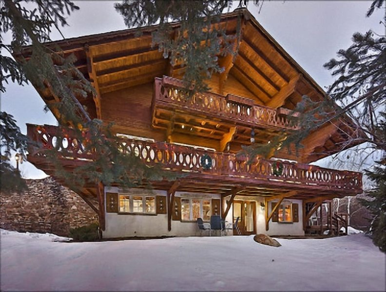 Exterior View of the property - Bavarian Style Chalet with Amazing Ski Area Views - Short Shuttle from the Ski Slopes (11912) - Steamboat Springs - rentals