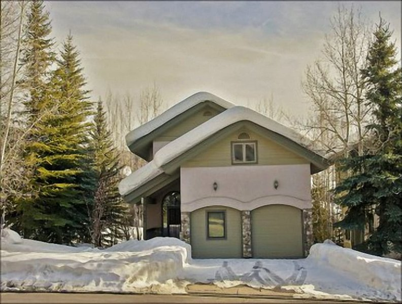 Exterior View of this 3-Level Single Family Home - In the Heart of the Mountain Village Area - Walk To Slopes, Shops, Restaurants, Groceries (3206) - Steamboat Springs - rentals