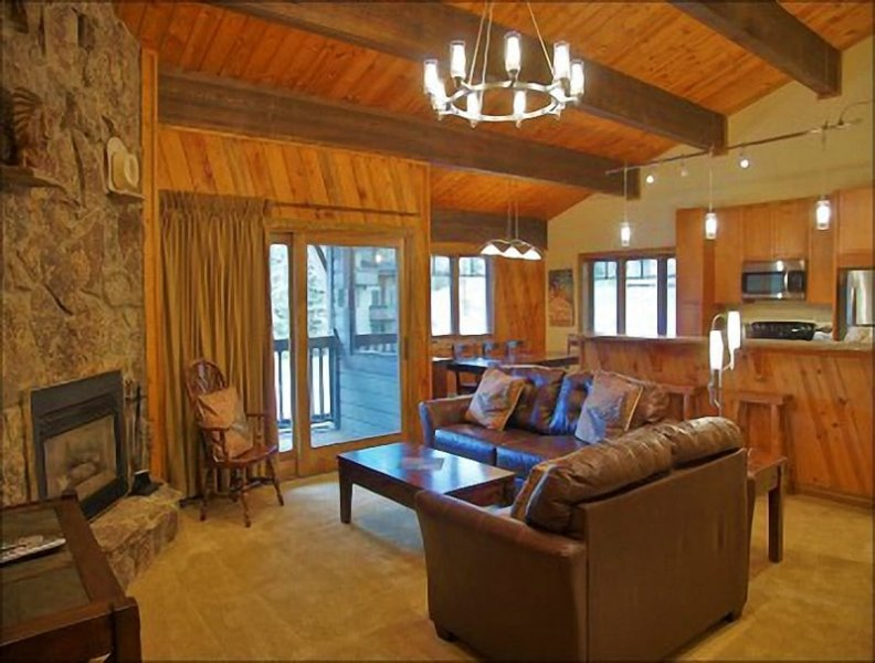 Vaulted Ceilings and an Open Floorplan give the main room a spacious feel. - Great Location in the Heart of the Base Area - Ski To Within about 50 Yards of the Condo (3665) - Steamboat Springs - rentals